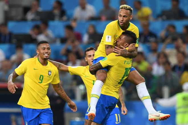 Brazil Charm Their Way To Round Of 16