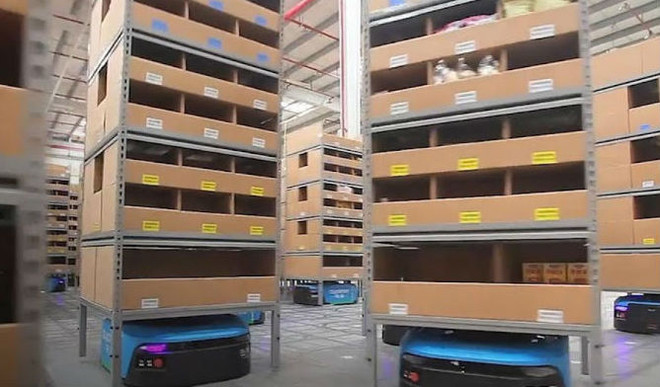 How A Warehouse Managed Entirely By Robots, Works