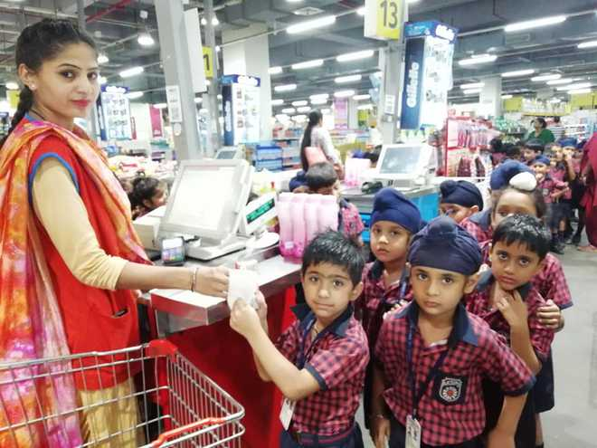 Tiny Tots Visit Shopping Mall