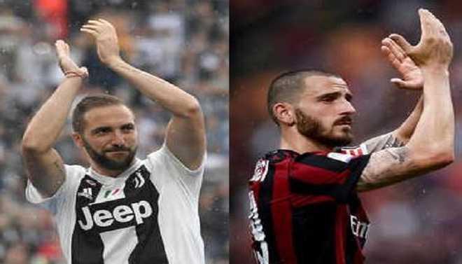 Higuain, Bonucci Move Opposite Sides