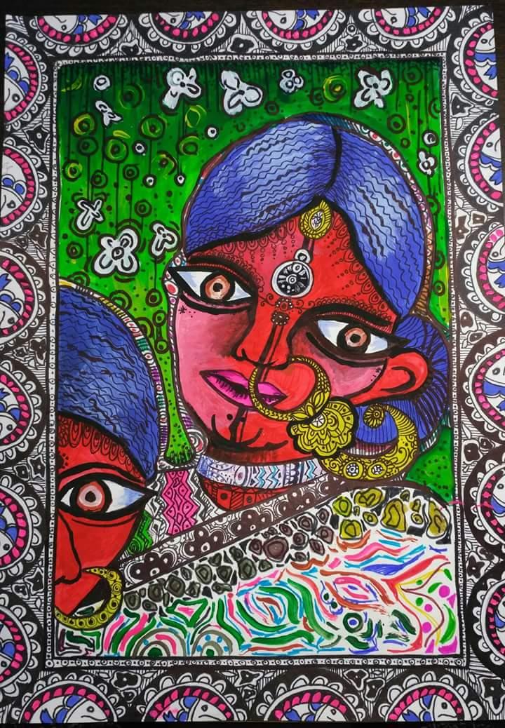 Harshita's Madhubani Painting
