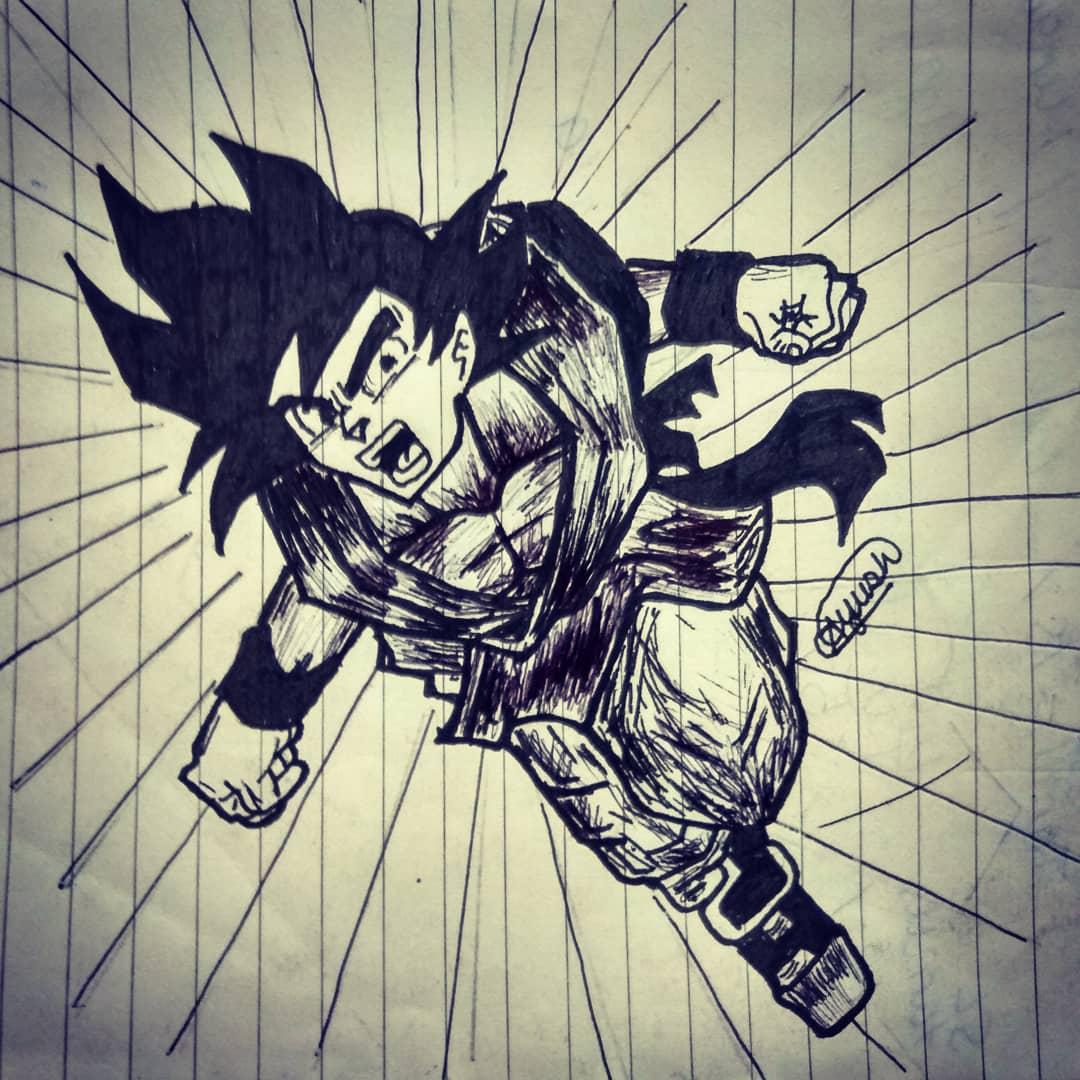 Ayush's Sketch of 'Dragon Ball Z:Goku'