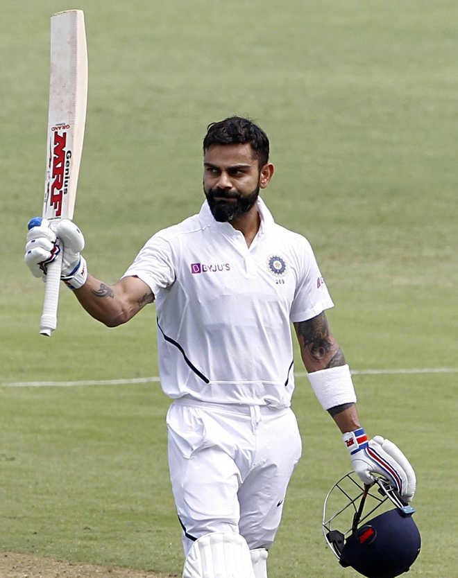 Virat Kohli's 26th test century puts India in command