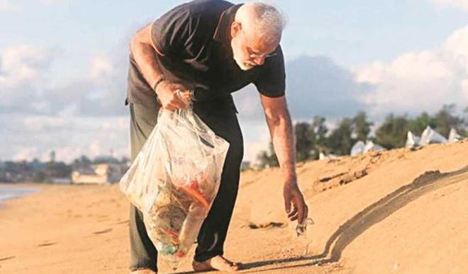 PM Goes Plogging On Tamil Nadu Beach