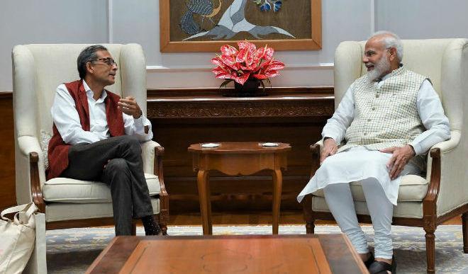 PM Modi Meets Nobel Awardee Abhijit