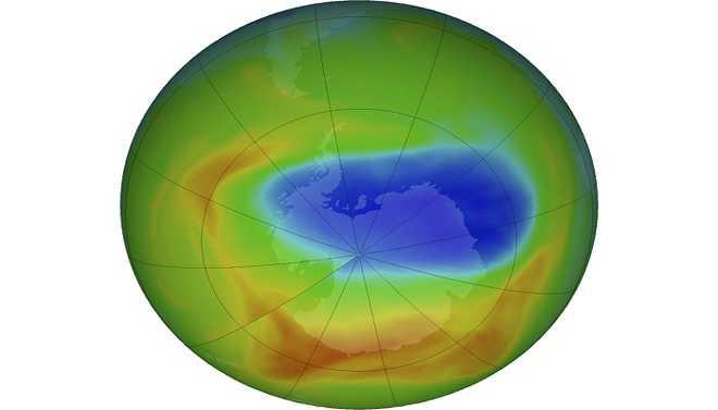 Ozone Hole Smallest Since 1982