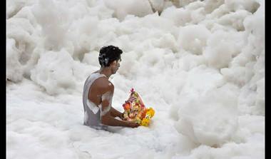 Delhi's Frozen River? Why Yamuna Turns White