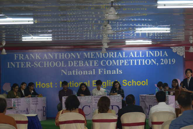 National English School hosts grand finale of Frank Anthony memorial debate