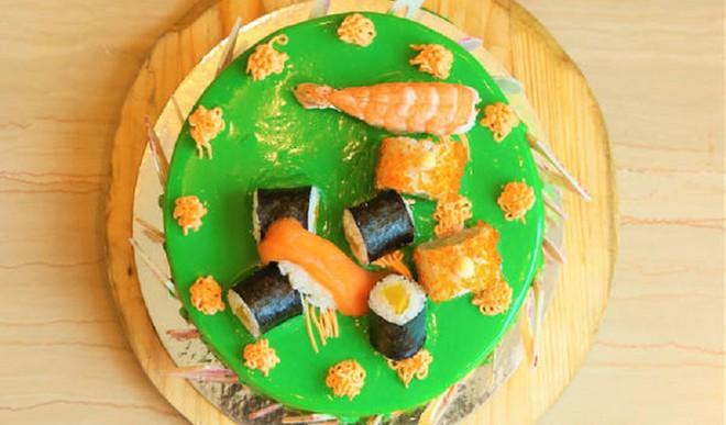 Delicious Lemon Sushi Cake