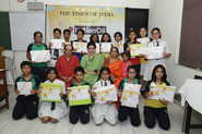 DPS Megacity students paint their concern for the environment