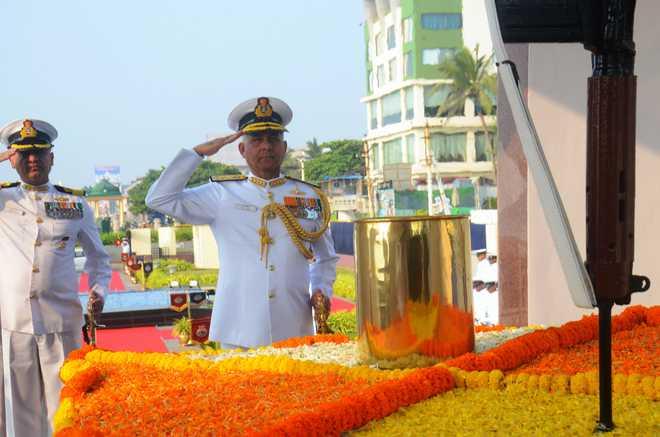PM Modi Salutes Navy Personnel
