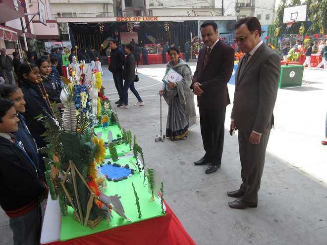 Lucknow Public Collegiate organises FLOWER ARRANGEMENT
