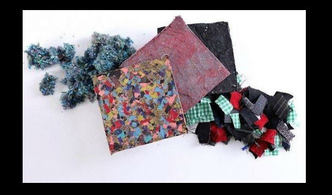 Turning Old Clothes Into Building Tiles