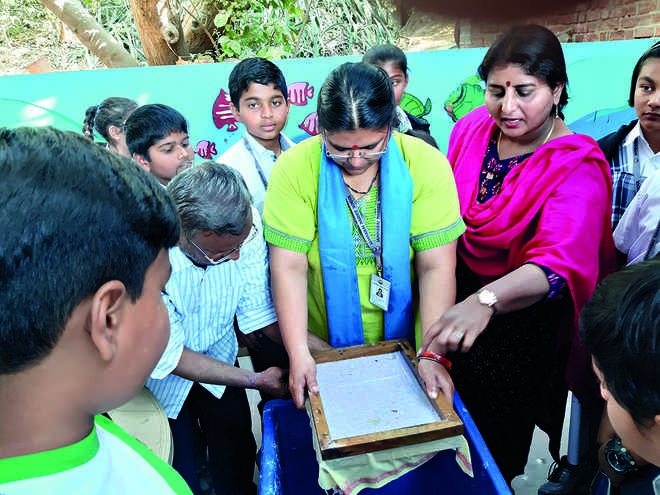 JNS students learn use of waste paper