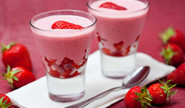 Delicious Pink Strawberry Mousse