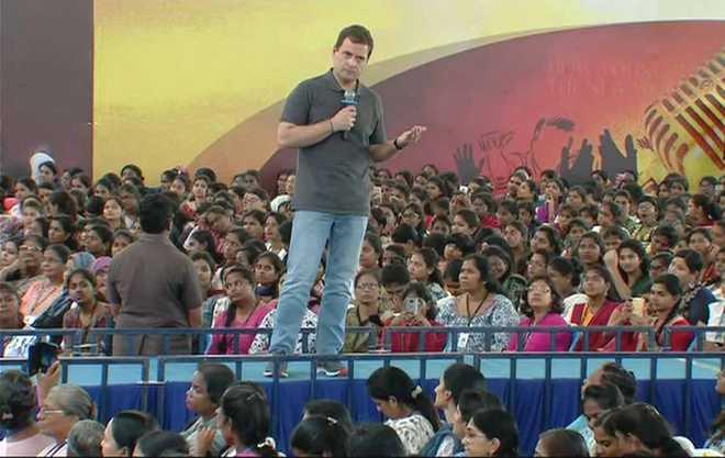 Weak Modi is scared of Xi: Rahul on Masood Azhar