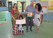 Nandana Dev Sen interacts with students during book launch at DPS Howrah