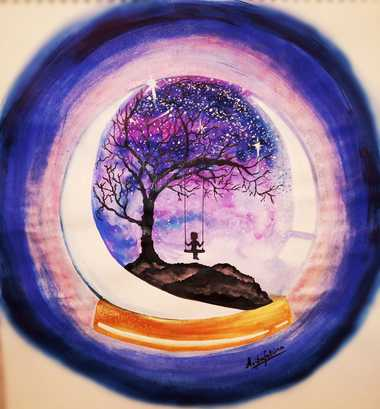 Ariba's Painting On 'Beautiful Solitude'