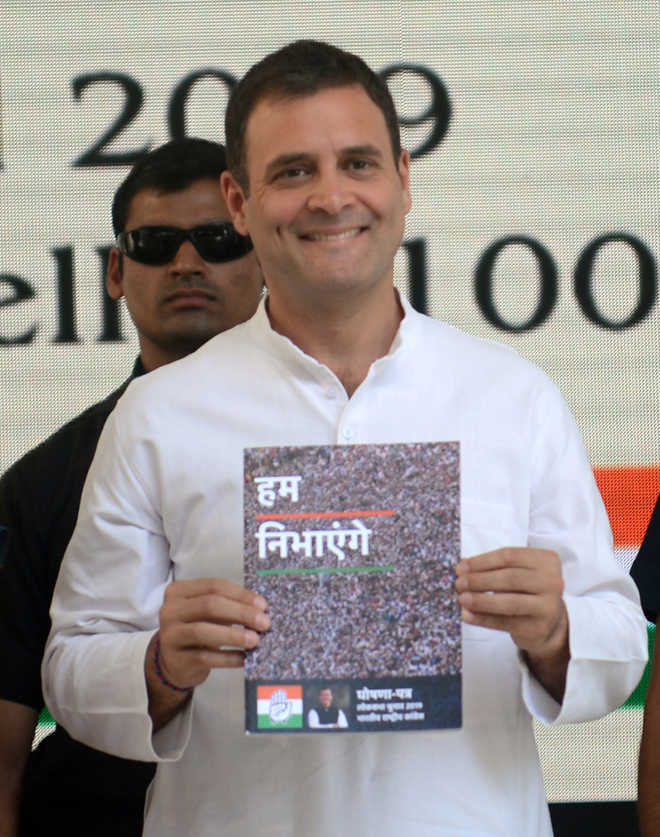 Manifesto Out: Rahul Pledges Jobs, Empower Women