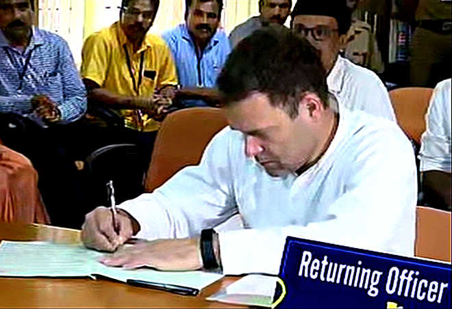 Rahul files nomination for Wayanad seat