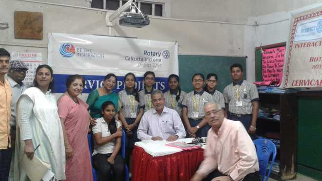 Chowringhee High School holds cervical cancer vaccination camp