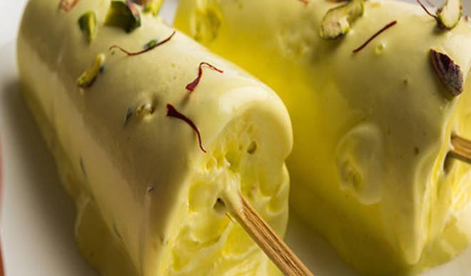 Delicious Almond Malai Kulfi