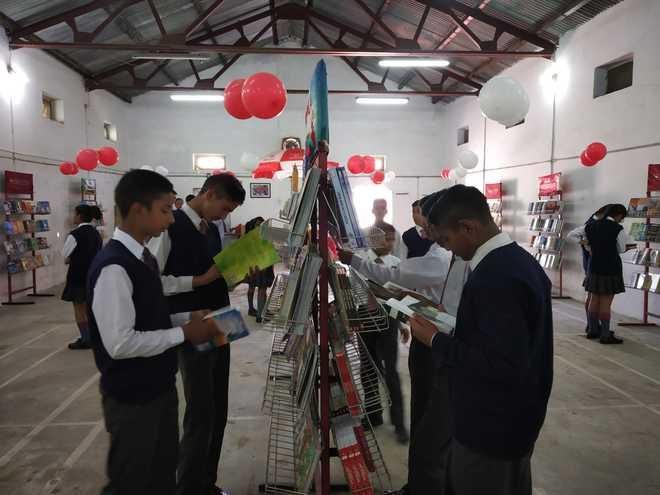 Book Fair concludes at APS Dagshai