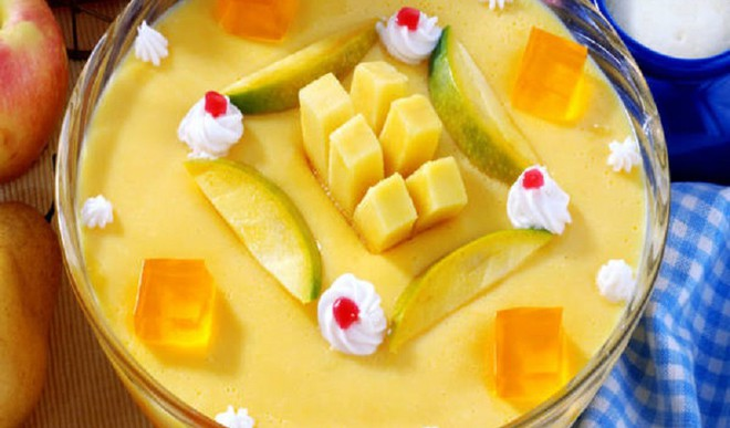 Tasty Tangy Mango Custard