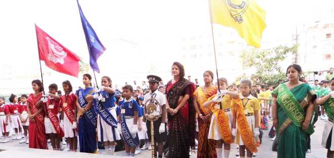 Investiture ceremony at National English School