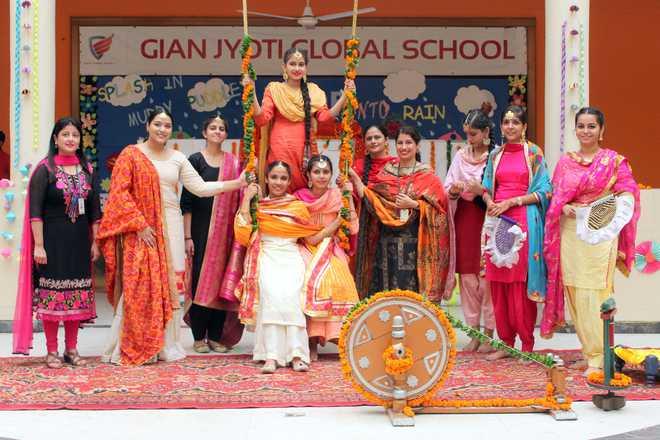 Teej Celebrations Held In Gian Jyoti Campus