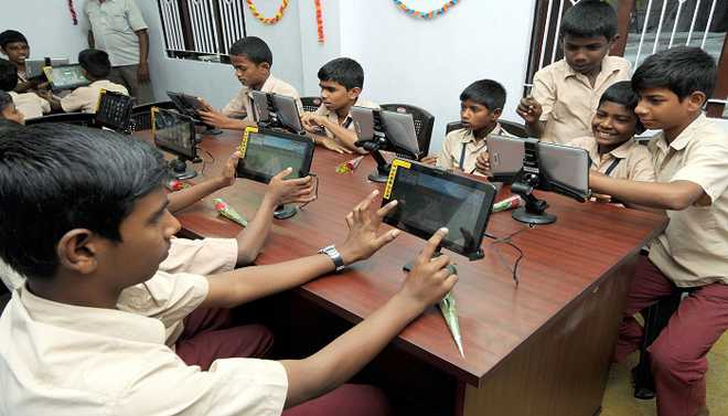 Gayathri: E-learning Cannot Replace Schools
