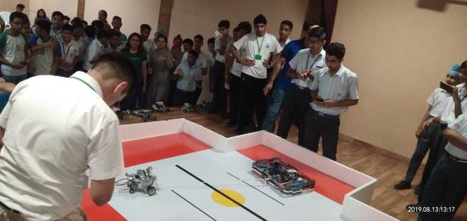 High-tech Models On Display By Kids At Robomania 2K19
