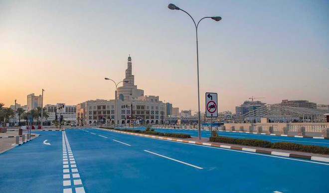 Why Have Qatar Roads Turned Blue?