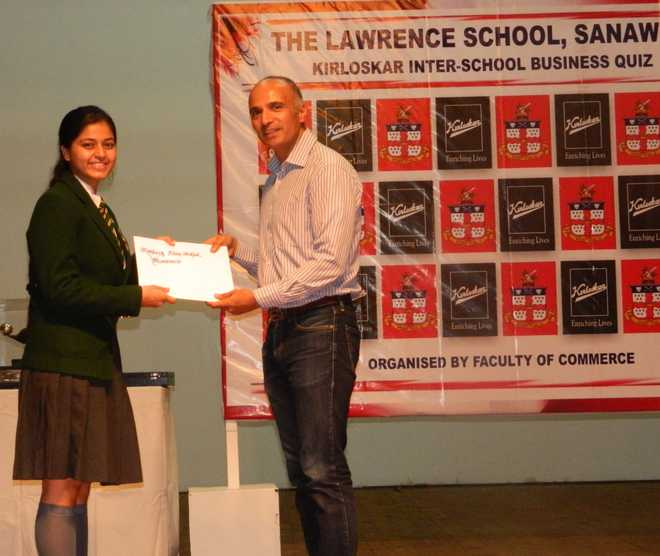 Host School Team Lifts Kirloskar Biz Quiz Winner's Trophy