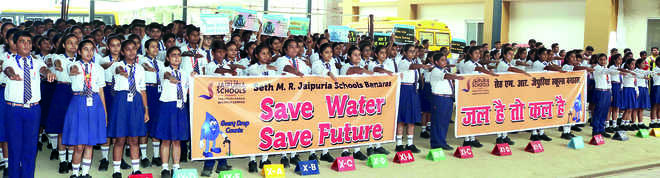 Water Conservation Awareness Program at Seth M R Jaipuria School, Babatpur