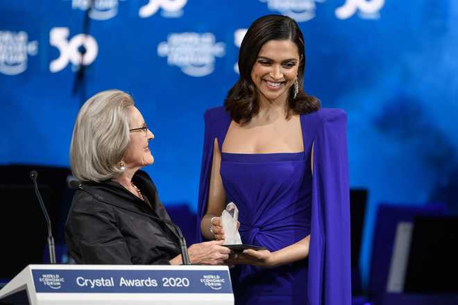 Padukone Quotes Martin Luther King, Gets Crystal Award At WEF