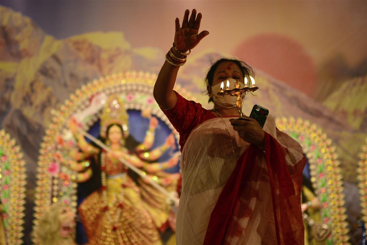 PM Invokes Durga, Vows Women's Safety