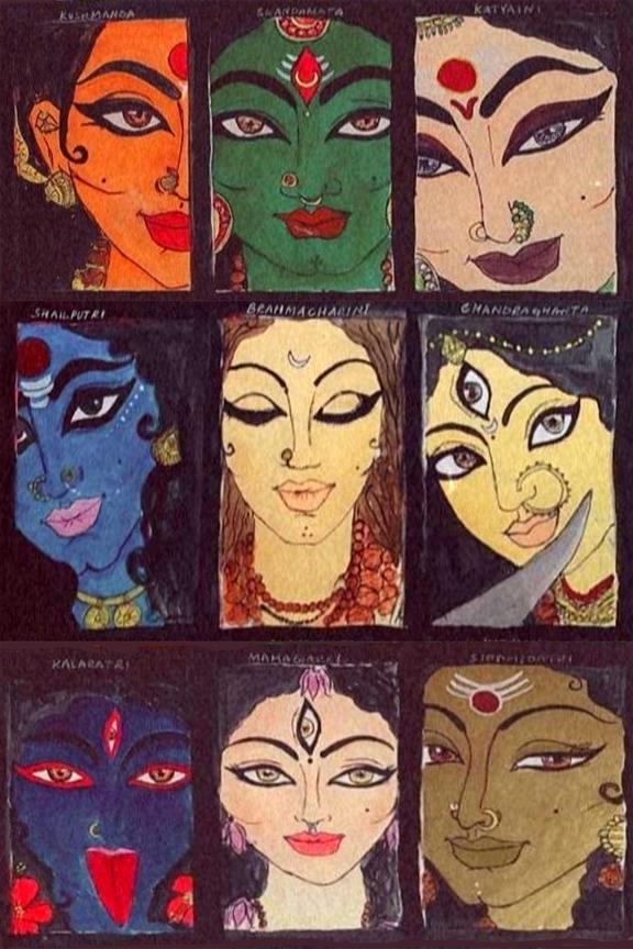 GODDESS DURGA: Vaishnavi S Chillal