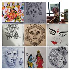 Various shades of Goddess Durga