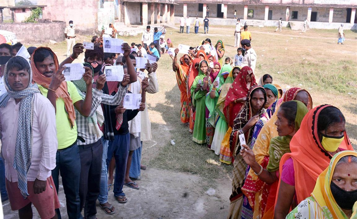Bihar Polls: 1st Phase 54.26 pc Turnout