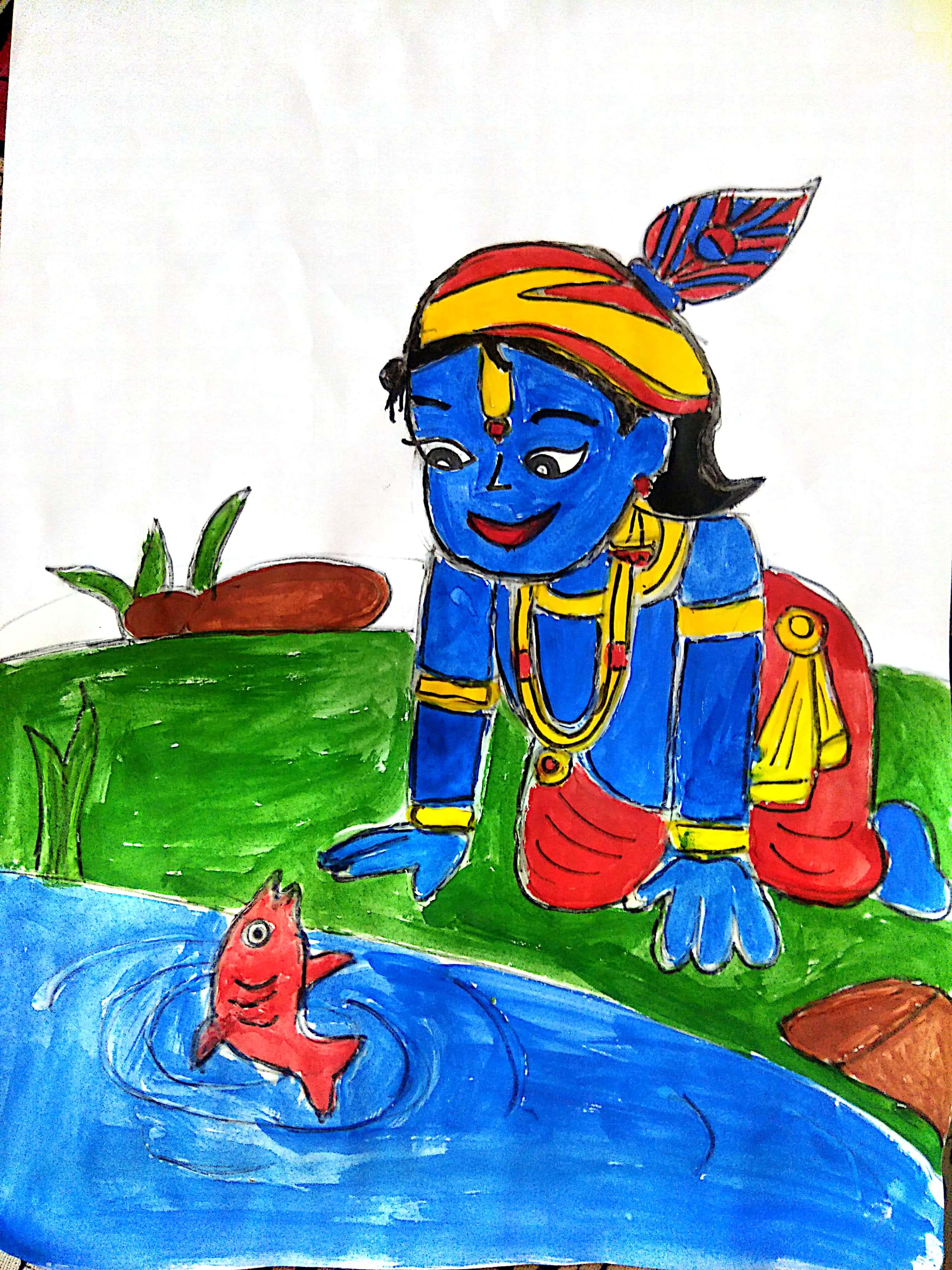 Little Krishna By Shashank