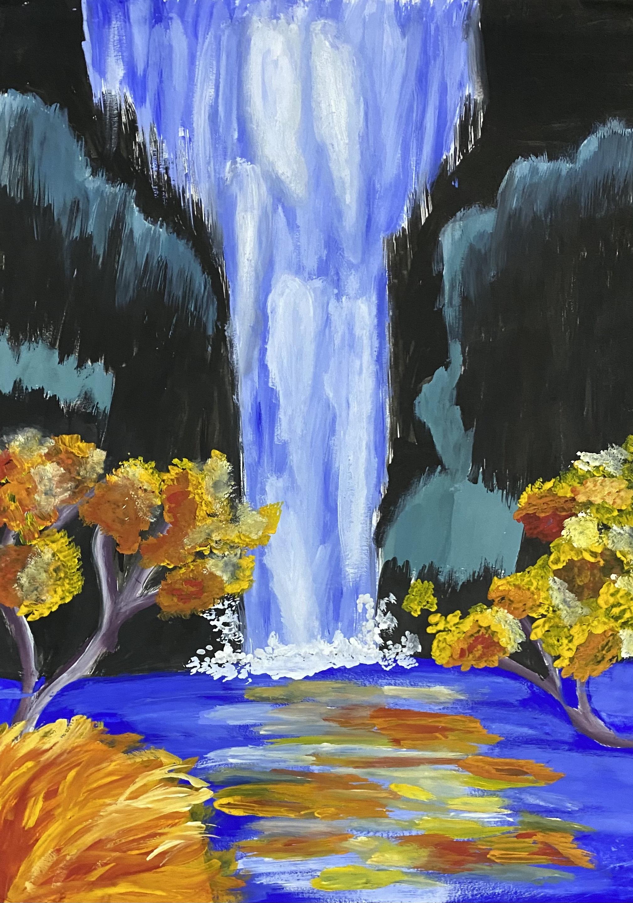 Nikita's Waterfall Painting