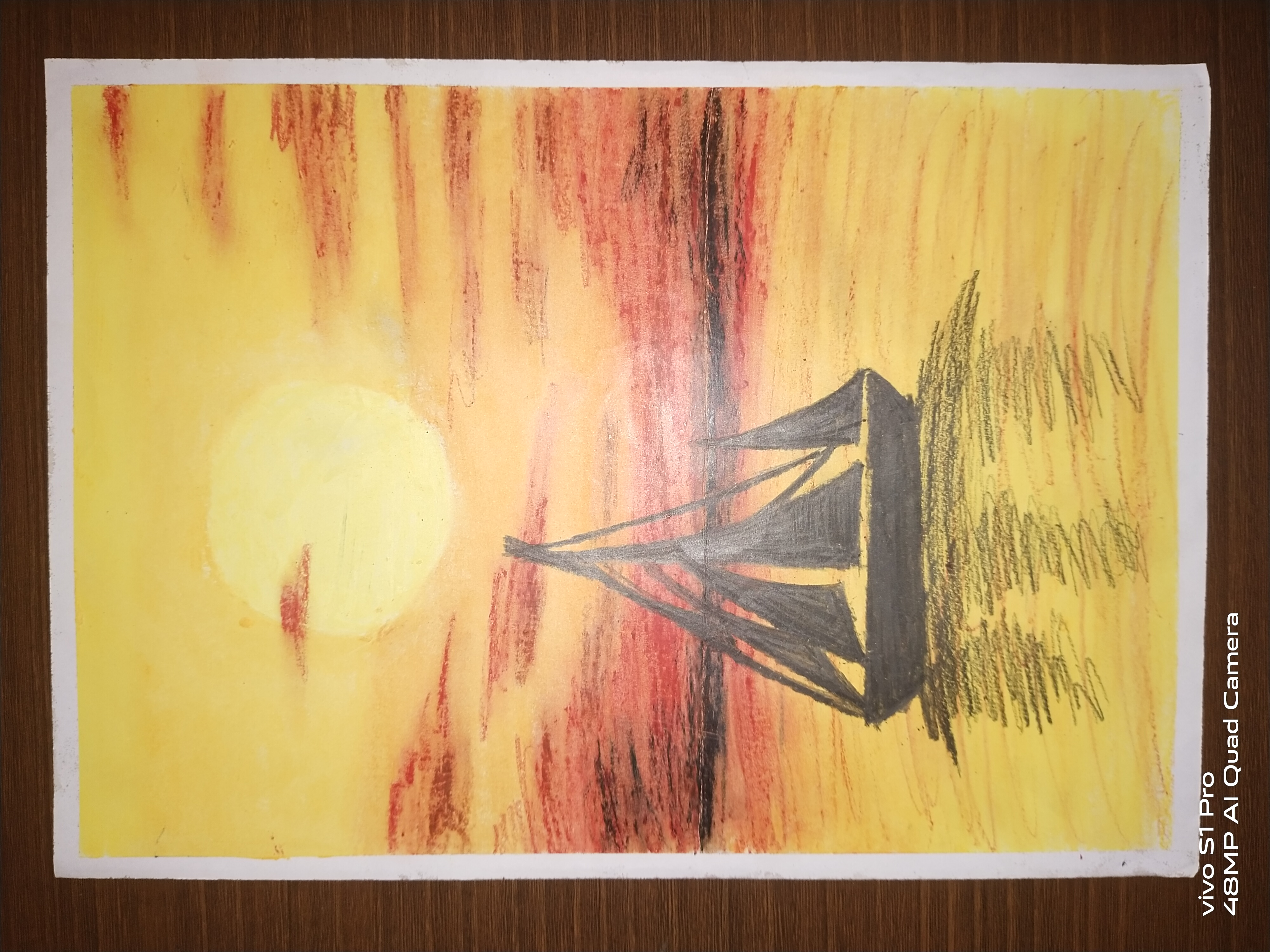 Charitharth's 'Boat On Sea' Painting