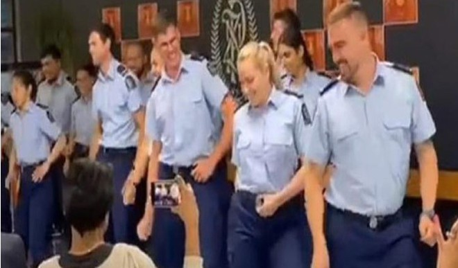 NZ Police Dance On Bolly Tunes