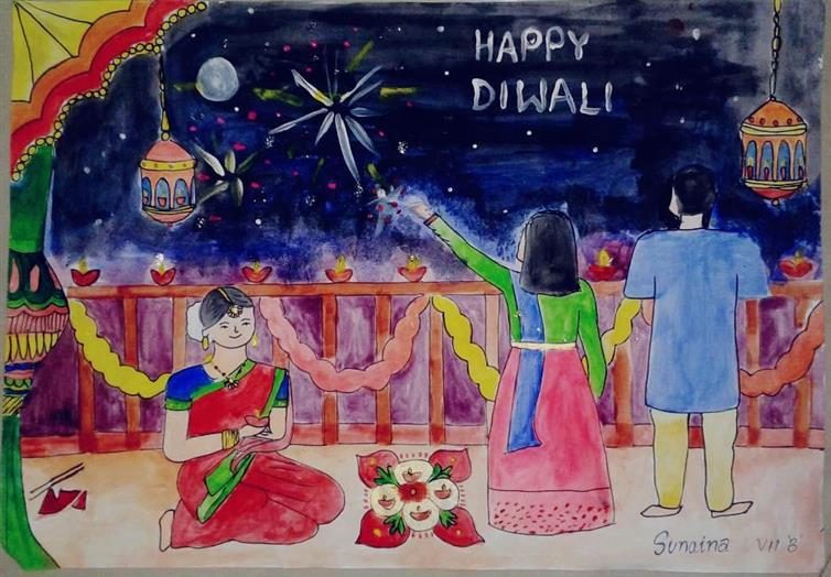 HAPPY DIWALI: Sunaina M Achari