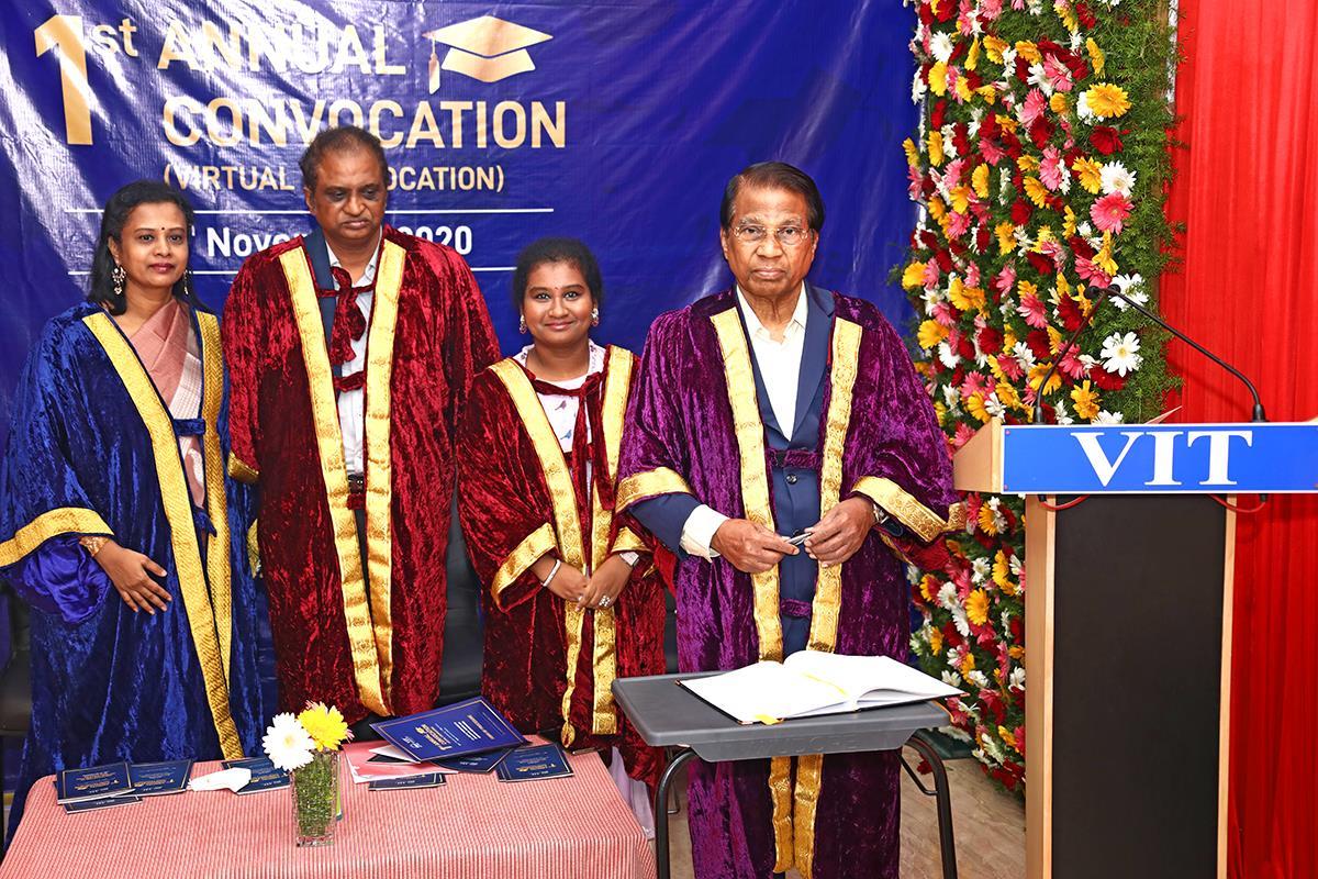 VIT Bhopal proudly presents Virtual Reality based E – Convocation (VREC 20)