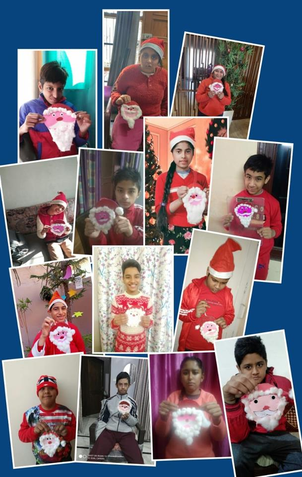 Children ring in Christmas in red