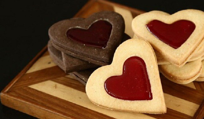 Relish Valentine's Shortbread Cookies