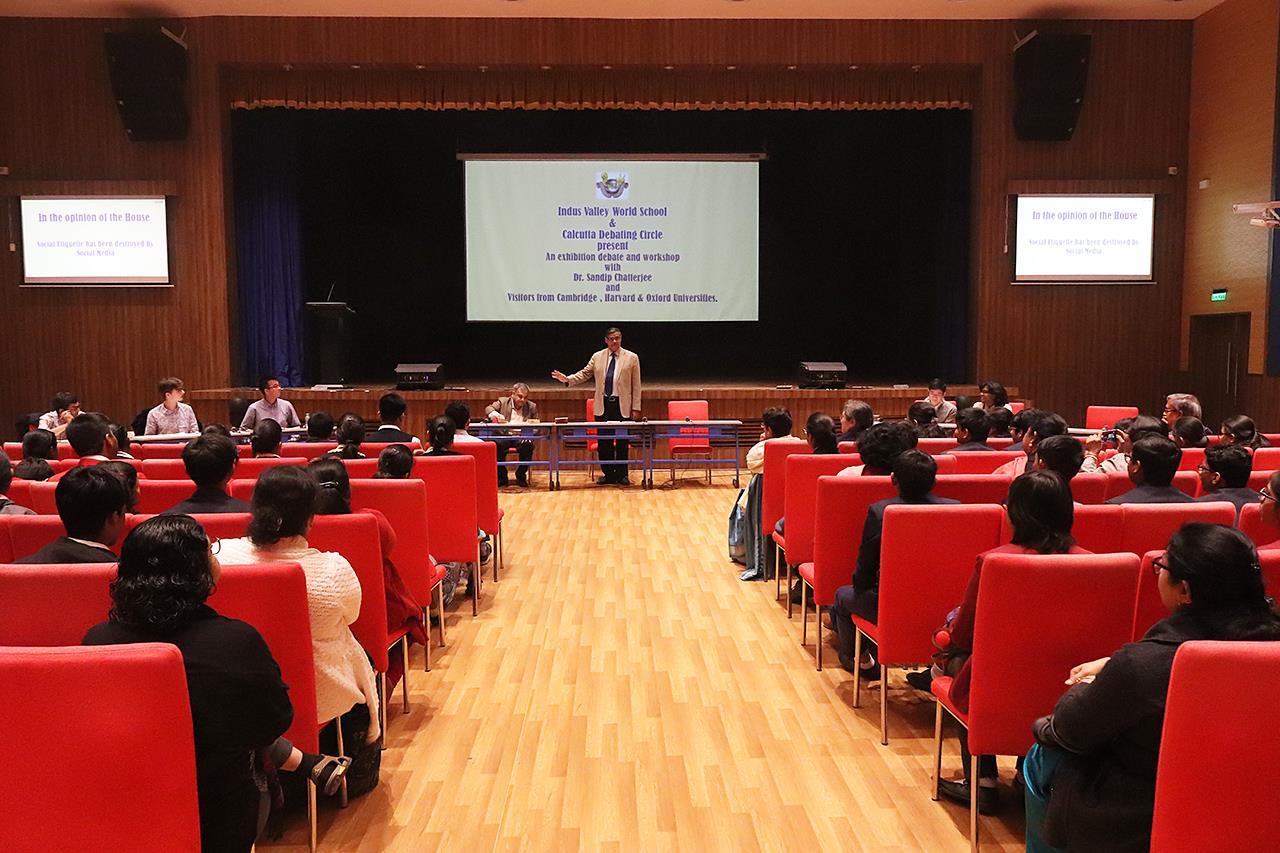 Indus Valley World School holds debating workshop