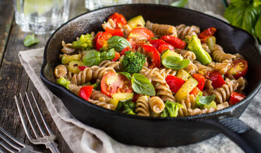 Delicious Wholewheat Veggie Pasta